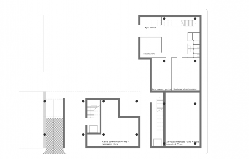 Progetto di stefano d 39 uffizi roberto dolfini for Progetto piano terra