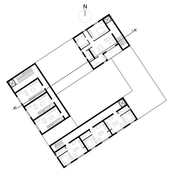 Progetto di stella ancona virginia buccarella martina for Laboratorio con alloggi