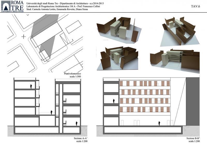 Progetto di carmela antonia lotito diana siena for Laboratorio con alloggi