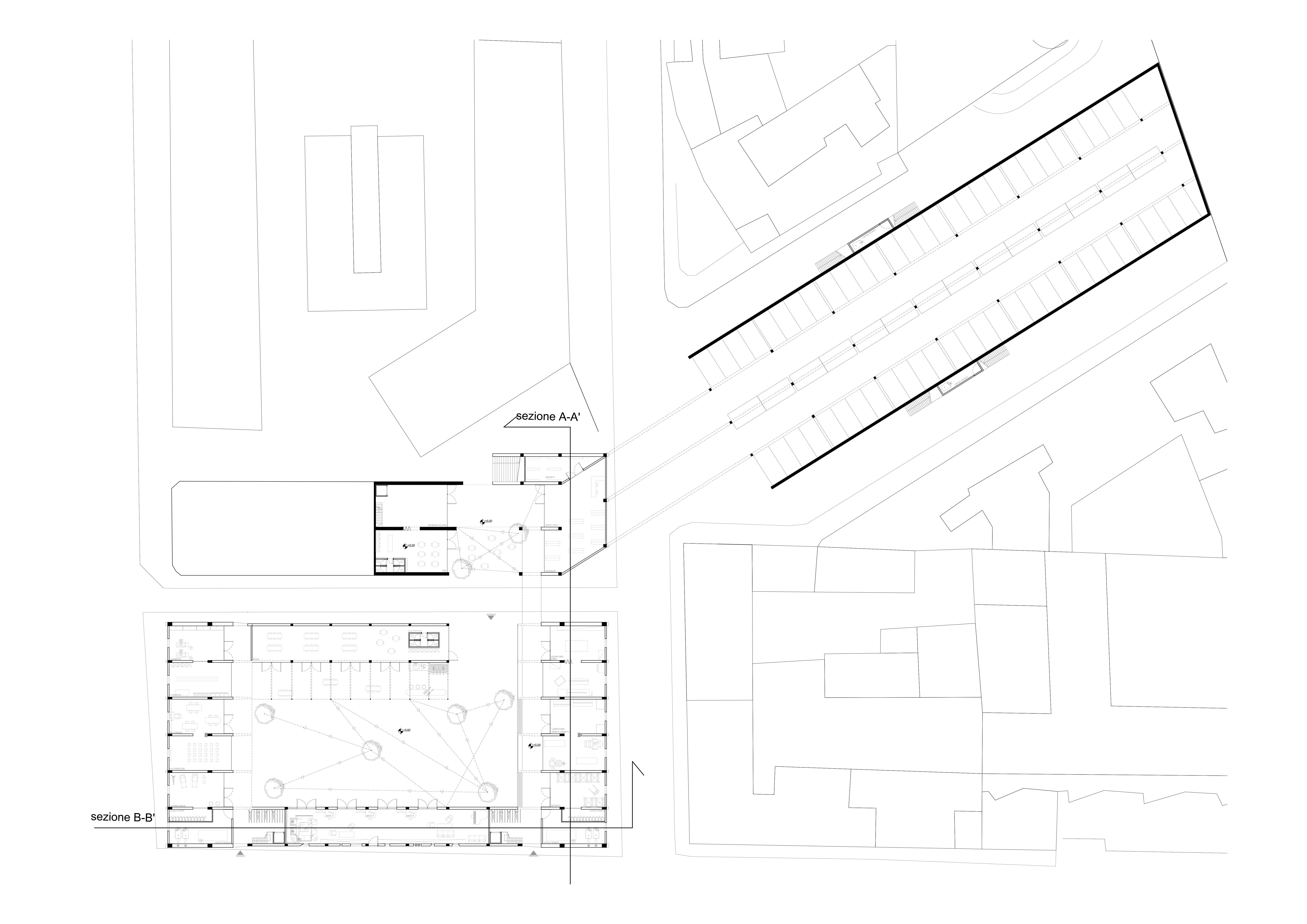 Progetto di azzariti monari laboratorio di for Strumento di layout piano terra