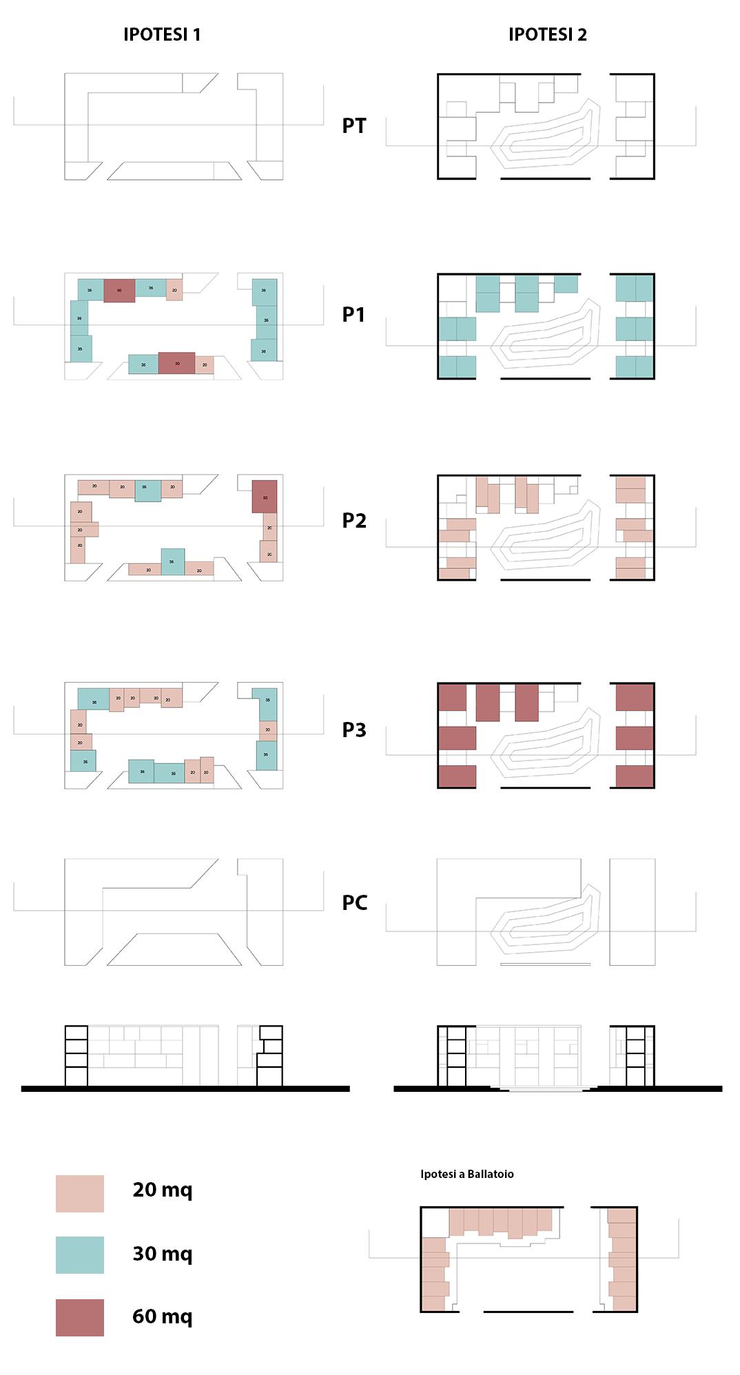 Progetto di ferrarese di cave petrichella laboratorio for Laboratorio con alloggi