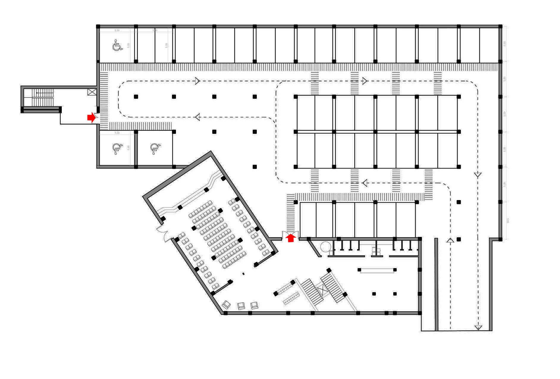 Progetto di chillocci de vita goutou laboratorio di - Parcheggio interrato ...