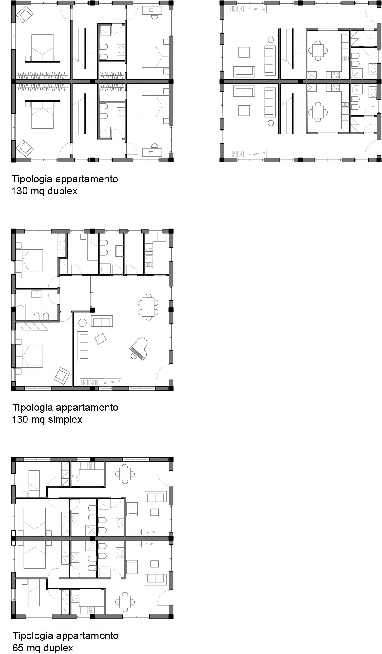 Progetto di caprioli gramegna laboratorio di for Piani di costruzione duplex