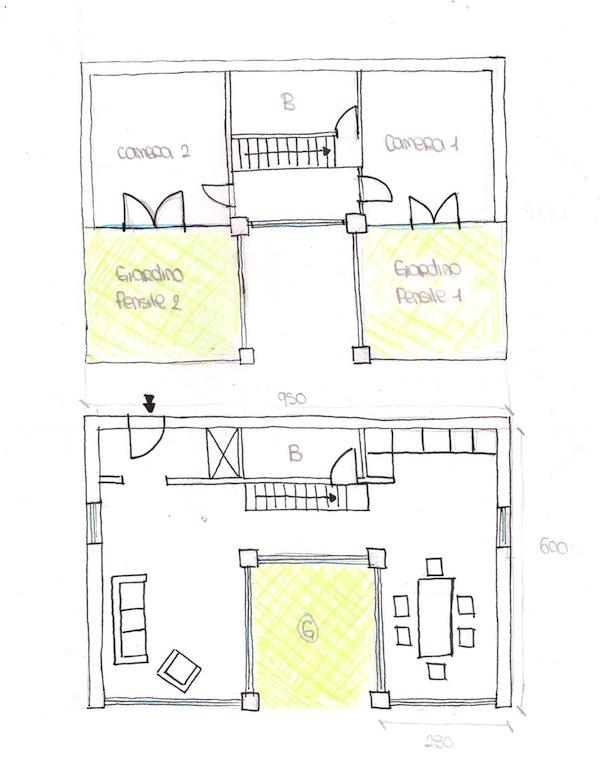 Progetto di giulia lopes ferreira e alessia ottone for Piani di casa tropicale con cortili
