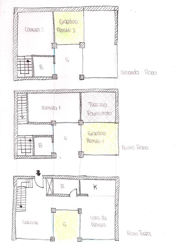 Progetto di giulia lopes ferreira e alessia ottone for Casa a tre piani