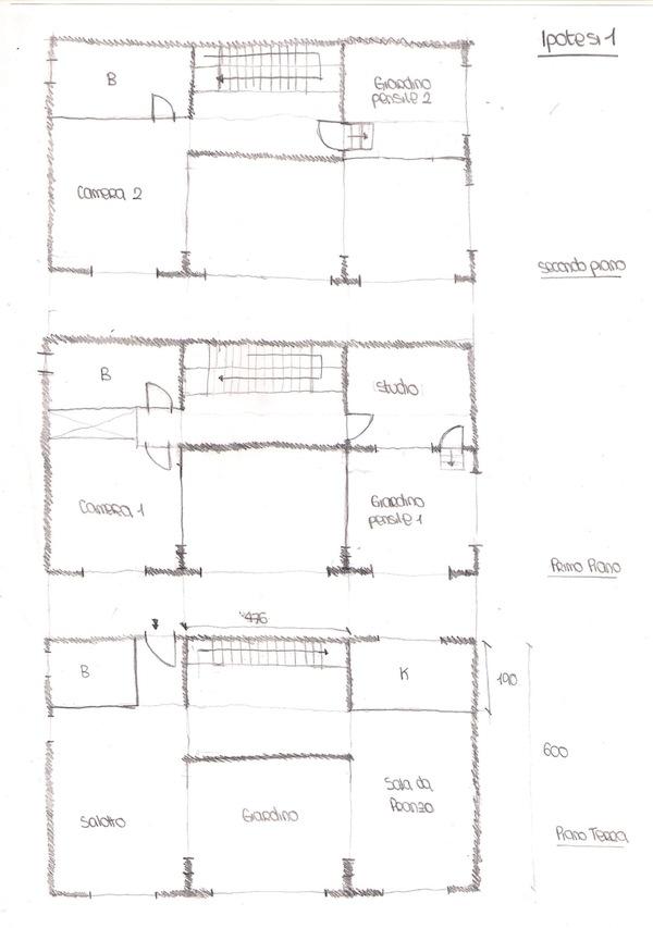 Progetti case piano terra gaetano bertino progetto di una for Grandi piani di una casa a 1 piano