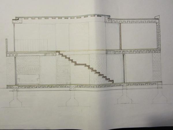 Progetto di enrica giaccaglia laboratorio di for Scala in cemento armato a vista