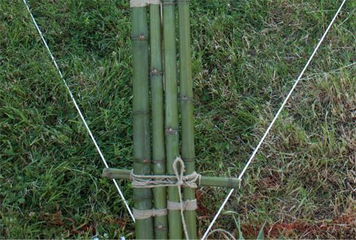M5_ nodo alla base per connettere quattro canne di bamboo