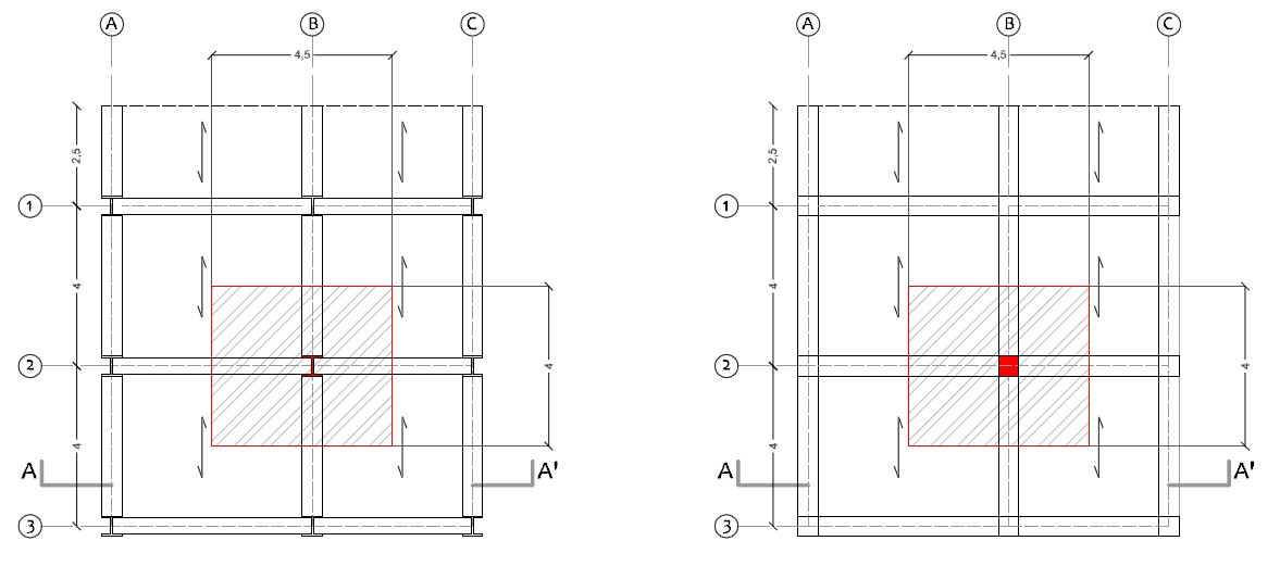 Quarta esercitazione dimensionamento di un pilastro for Disegno del piano di soggiorno