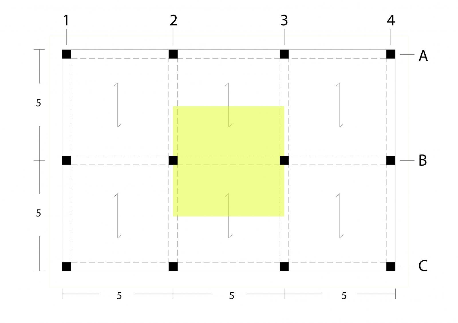 Esercitazione 1 dimensionamento di un telaio nelle for Un telaio interno